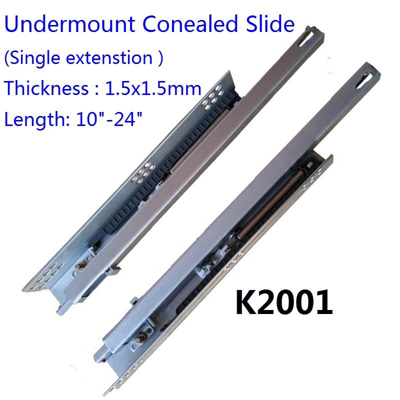 K2001 Single Extension Concealed Undermount Slide