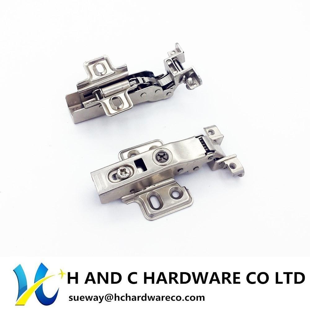 Aluminum Doorframe Hinge, Soft Close (Fixed plate)